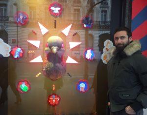 les oiseaux sont au coeur des créations des Galeries Lafayette de Paris