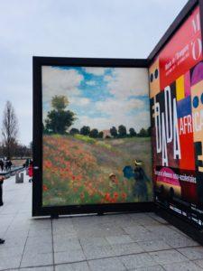 La création picturale selon Monet : Les Coquelicots