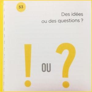 Des idées ou des questions dans le livre de Marc Raison Stratégie et Créativité