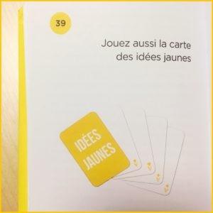 Des classements originaux présents à la lecture du livre de Marc Raison Stratégie et Créativité, exemple des cartes jaunes