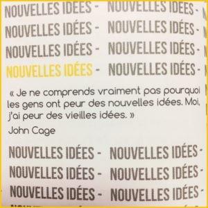 Nouvelles idées, première partie du livre Stratégie et Créativité de Mark Raison.