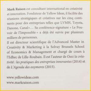 Le livre Stratégie et Créativité de Mark Raison, présentation de l'auteur
