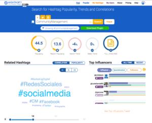 le site web de Hashtagify et ses outils