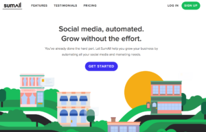 le site web de SumAll, utile pour gérer ses réseaux sociaux