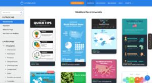 le site web de Venngage utile au top pour ses réseaux sociaux