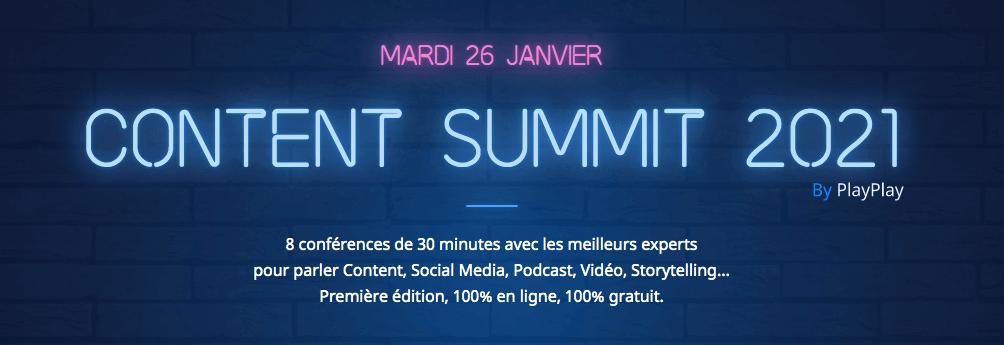 Retour sur la matinée de conférence du Content Summit 2021 by Play Play !